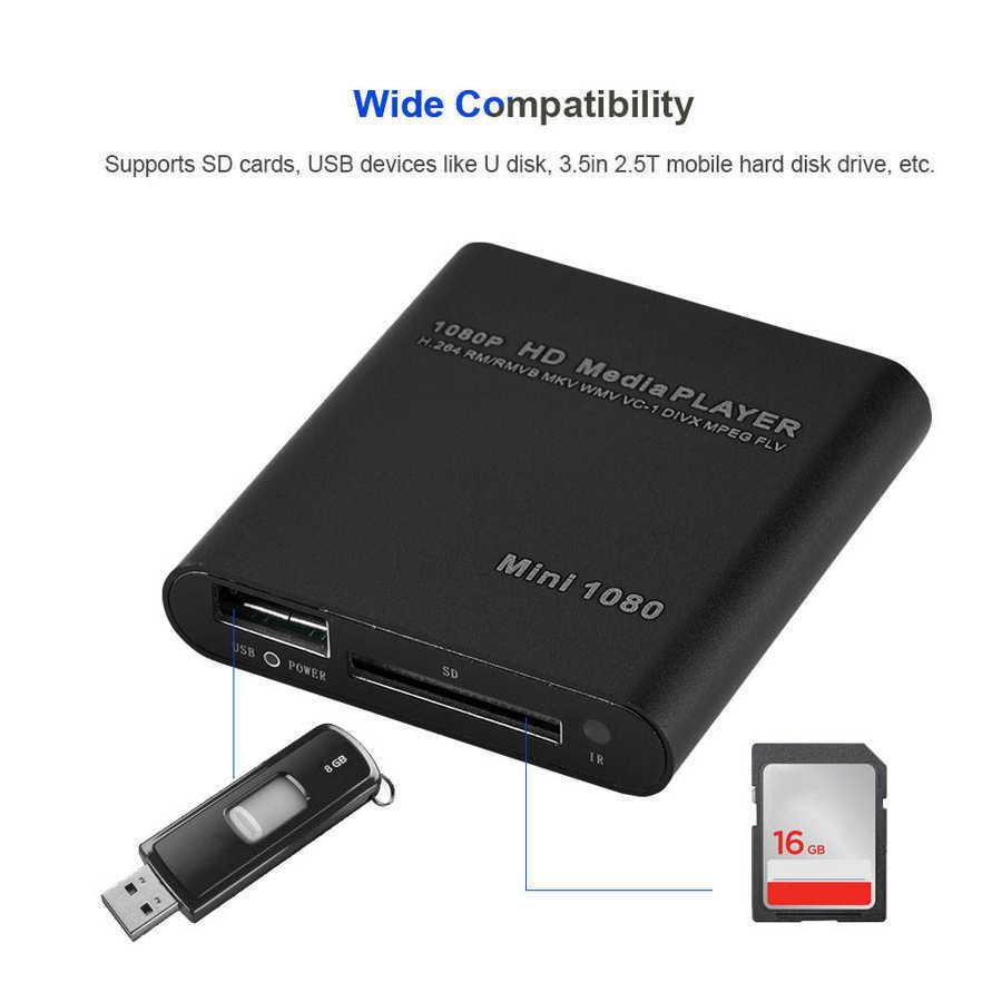 HDD Multimedia Player Full HD 1080P USB External Media Player With HDMI SD Media TV Box Support MKV H.264 RMVB WMV HDD Player 21