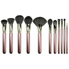 11PC Lúxus Copper Makeup Bursta Set