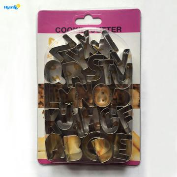 Stainless Steel 26pcs Alphabet Cookie Cutter Set