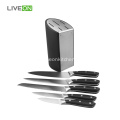 5 pcs Stainless Steel Knife Set With Block