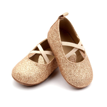 Gold Glitter Birthday Prewalker Baby Shoes for Girls