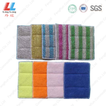 Colorful silver cleaning washing pad