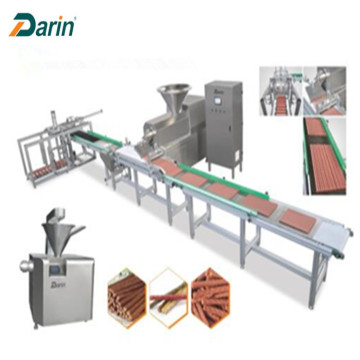 Meat strip single screw extruder machine for pet