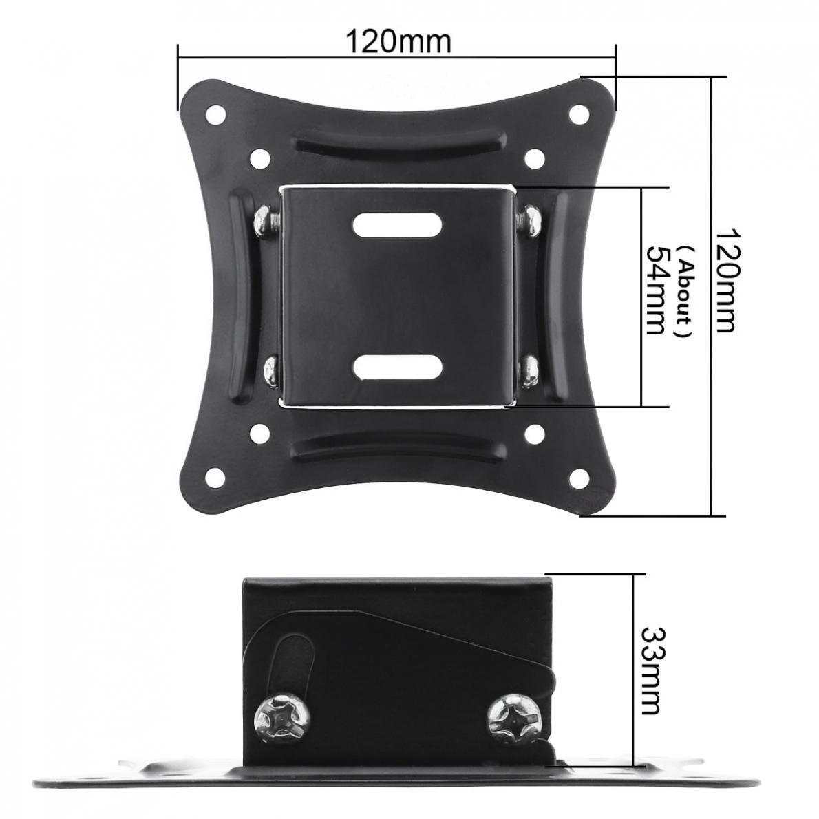 Universal 14-26 Inch LCD LED Monitor Flat Panel TV Wall Mount Bracket Fixed Flat Panel TV Frame Support 10 Degrees Tilt Angle