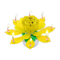 high quality double lotus flower musical rotating candle