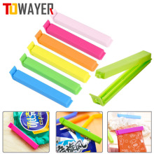 10Pcs/lot Bag Clips Portable New Kitchen Storage Food Snack Seal Sealing Bag Clips Sealer Clamp Plastic Tool Kitchen Accessories