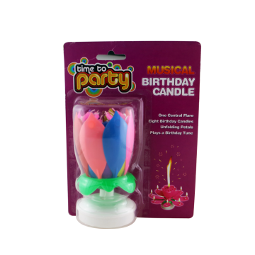 Menyanyi Muzik Magic Colorful Rotating Birthday Cake Lilin
