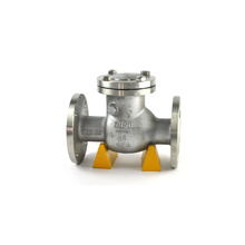 water and oil medium cast iron swing flange check valve pn16