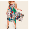 European American Fashion Large Size Sling Dress