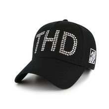 Customized unisex quality baseball hat with metal decoration