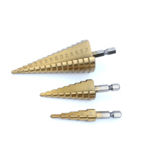 Metric titanium HSS Straight Flute Step Drill Bit