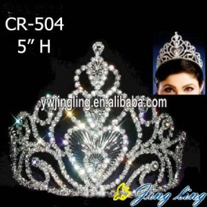 5 Inch Silver Rhinestone Pageant Crown