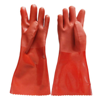 Brown Double Dipped PVC Glove  45cm