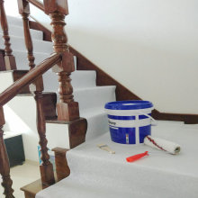 Stair Floor Protection Sheet While Painting