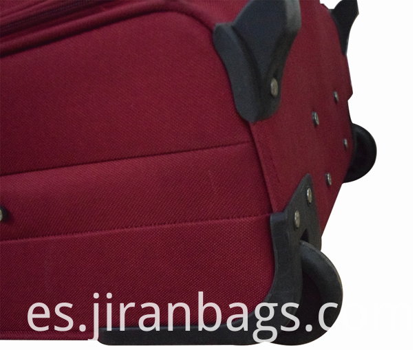 Cloth luggage with stable mute wheels