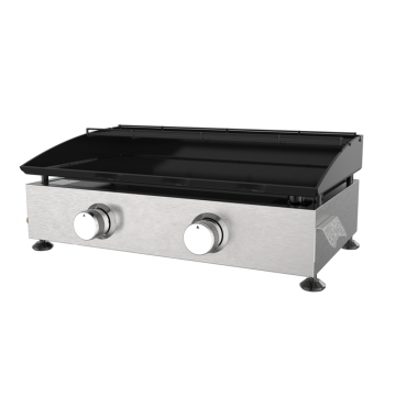 Two Burner Cast iron Gas Griddle Grill
