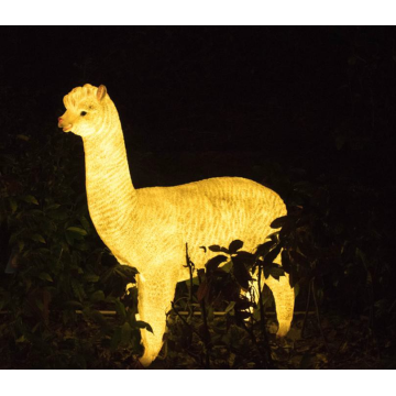 Simulated luminous large alpaca A Lights