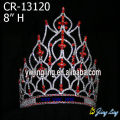 Red rhinestone pageant princess crowns for sale
