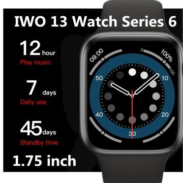 IWO 13 smart watch men women Series 6 1.75'' display Magnetic charger heart rate sport waterproof Updated IWO12 PRO smartwatch