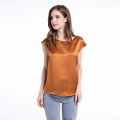 Blouse Classic Style Silk Short Sleeve Relaxed T-Shirt
