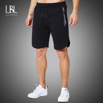 Men's Shorts Sweatpants Fitness Workout Bodybuilding 2020 Spring Summer Fashion Shorts Men Zipper Pocket Trousers Short Pants