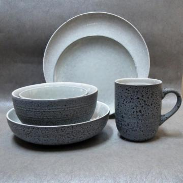 Stoneware dinnerware Speckle Blue