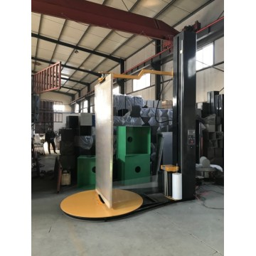 automatic door wrapping machine with top press