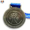 Metal award triathlon finisher medals