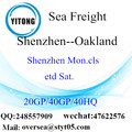 Shenzhen Port Sea Freight Shipping To Oakland