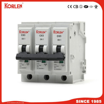 10ka Mini Circuit Breaker Plug-in Type MCB  6A-63A IEC60898