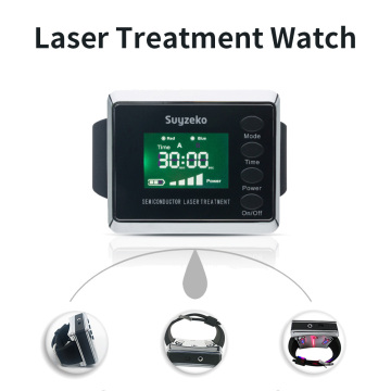Laser treatment machine watch with laser