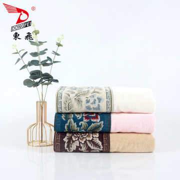 soft plain color velvet applique bath towel