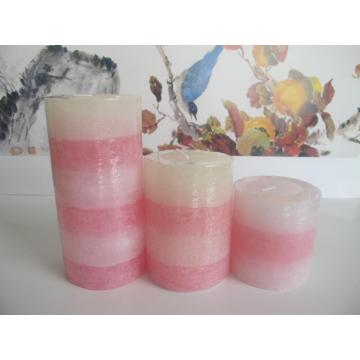 Scented Blended Color Layered Pillar Candle