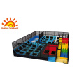 Trampoline Park With Large Slide For Children