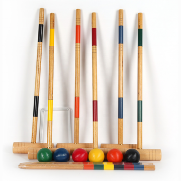 Deluxe Croquet Set including Wooden Mallets