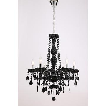 Modern European style Living room Black Crystal Chandelier