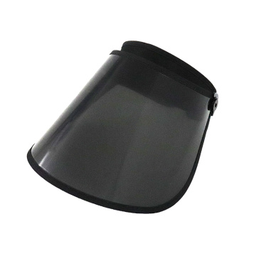 Black transparent pc visor face shield