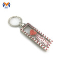 Quotes enamel glitter love keychain for boyfriend