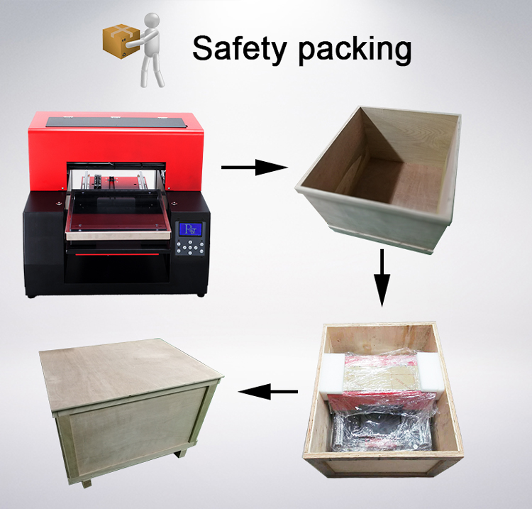 UV Led Flatbed Bag Printer