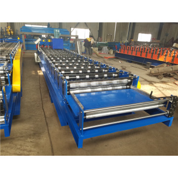 Automatic glazed roof tile forming machine
