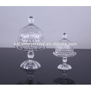 Wholesale Glass Cake Plate With Glass Dome
