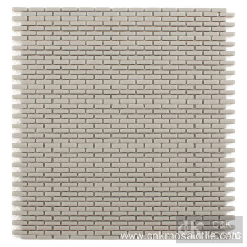 Grey Color Subway Glass Mosaic Wall Tiles