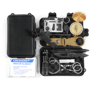 11-in-1 Multiple Styles Combination Survival Gear Kit