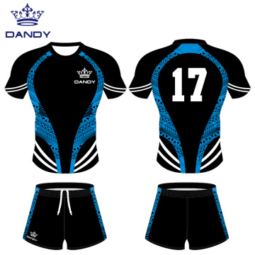 Custom black rugby shirts