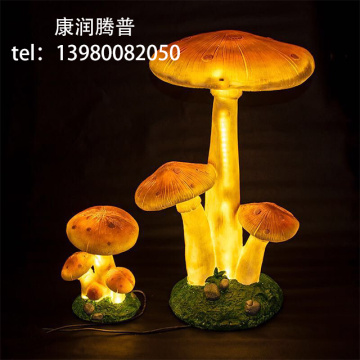 Outdoor Mushroom Resin Lights