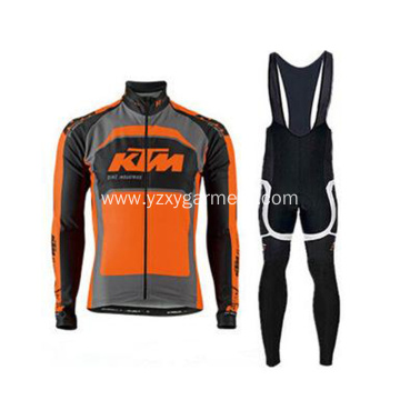 Orange cycling clothes