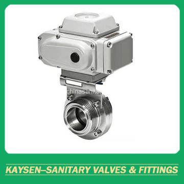 3A Food Grade Electric Butterfly Valves Male end