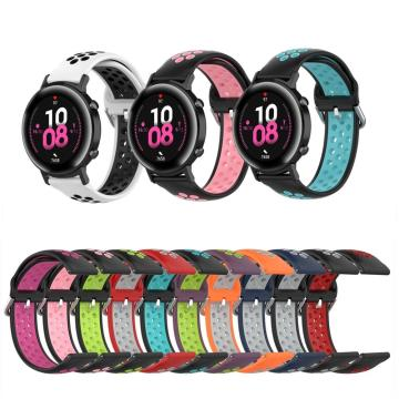Silicone Strap For Honor magic 2 42mm 46mm Breathable Waterproof Sport Bracelet For Huawei GT 2 Smart Watch Bands Accessories