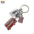 Souvenir custom shape metal London keychain