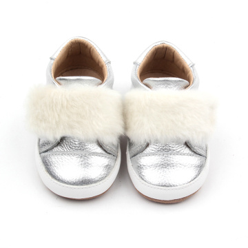 Baby Genuine Cow Leather Sliver  Causal Shoes